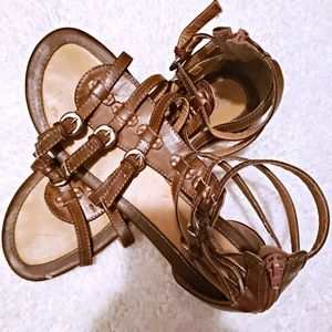 FAIRLY NEW SODA SANDALS BROWN SIZE 9